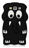 Samsung i9300 Galaxy S3 Elephant Siyah Silikon K�l�f
