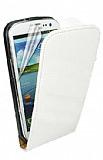 Samsung Galaxy S3 / S3 Neo �nce Kapakl� Beyaz Deri K�l�f