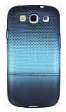 Samsung i9300 Galaxy S3 Mavi Noktalı Ultra İnce Silikon Kılıf