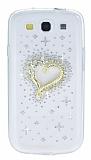 Samsung i9300 Galaxy S3 Ta�l� Kalp �effaf Silikon K�l�f
