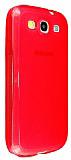 Samsung Galaxy S3 / S3 Neo Ultra Koruma Kırmızı Silikon Kılıf