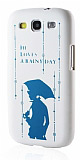 Samsung Galaxy S3 / S3 neo Yağmur Desenli Sert Mat Rubber Kılıf
