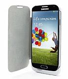 Samsung i9500 Galaxy S4 Bataryal� Kapakl� Beyaz K�l�f
