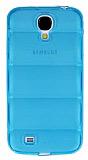 Samsung i9500 Galaxy S4 Bubble �effaf Mavi Silikon K�l�f