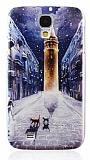 Samsung i9500 Galaxy S4 �stanbul K�� Manzaral� Rubber K�l�f