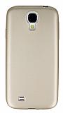 Samsung i9500 Galaxy S4 Mat Gold Silikon Kılıf