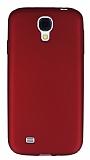 Samsung i9500 Galaxy S4 Mat Kırmızı Silikon Kılıf