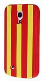 Samsung i9190 Galaxy S4 mini Kırmızı Çizgili Silikon Kılıf