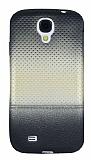Samsung i9500 Galaxy S4 Mavi Noktalı Ultra İnce Gold Silikon Kılıf