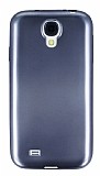 Samsung i9500 Galaxy S4 Metalik Dark Silver Silikon K�l�f