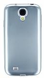 Samsung i9500 Galaxy S4 Metalik Silver Silikon K�l�f