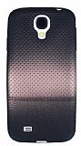Samsung i9500 Galaxy S4 Rose Gold Noktalı Ultra İnce Siyah Silikon Kılıf