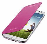 Samsung i9500 Galaxy S4 Orjinal Pembe Flip Cover