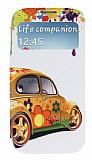 Samsung i9500 Galaxy S4 Pencereli �nce Kapakl� Vosvos K�l�f