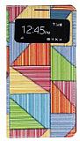 Samsung i9500 Galaxy S4 Prizma Desenli Pencereli �nce Yan Kapakl� Deri K�l�f
