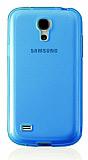 Samsung i9500 Galaxy S4 Ultra Koruma Mavi Silikon K�l�f