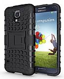Samsung i9500 Galaxy S4 Ultra S�per Koruma Standl� K�l�f