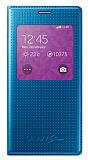 Samsung Galaxy S5 mini Orjinal Pencereli View Cover Mavi Kılıf