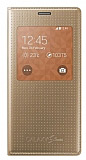 Samsung Galaxy S5 mini Orjinal Pencereli View Cover Gold Kılıf