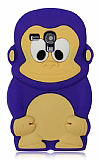 Samsung i8190 Galaxy S3 mini Maymun Mor Silikon K�l�f