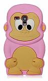 Samsung i8190 Galaxy S3 mini Maymun Pembe Silikon K�l�f