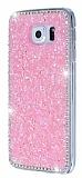 Samsung i9800 Galaxy S6 Taşlı Pembe Rubber Kılıf