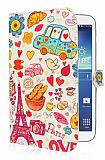 Samsung N5100 Galaxy Note 8.0 Paris Love Standlı Yan Kapaklı Deri Kılıf