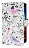 Samsung N7000 Galaxy Note Bird Standl� C�zdanl� Deri K�l�f