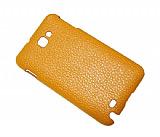 Samsung N7000 Galaxy Note Turuncu Deri Arka Kapak