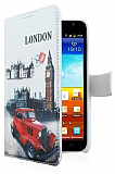 Samsung N7000 Galaxy Note London C�zdanl� Yan Kapakl� K�l�f