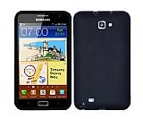 Samsung N7000 Galaxy Note Siyah Silikon K�l�f