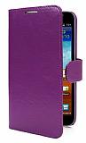 Samsung N7000 Galaxy Note Standl� C�zdanl� Mor Deri K�l�f