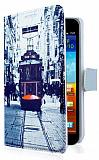 Samsung N7000 Galaxy Note Taksim C�zdanl� Yan Kapakl� K�l�f