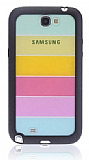 Samsung N7100 Galaxy Note 2 G�kku�a�� Silikon Kenarl� Siyah Rubber K�l�f