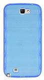 Samsung N7100 Galaxy Note 2 Bubble �effaf Mavi Silikon K�l�f