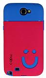 Mob Samsung N7100 Galaxy Note 2 G�len Y�z Koyu Pembe Silikon K�l�f