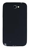 Samsung N7100 Galaxy Note 2 Mat Siyah Silikon Kılıf
