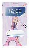 Samsung N7100 Galaxy Note 2 Pencereli �nce Kapakl� Eiffel K�l�f