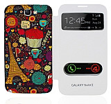 Samsung N7100 Galaxy Note 2 Pencereli Paris K�l�f