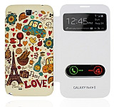 Samsung N7100 Galaxy Note 2 Pencereli Paris Love K�l�f