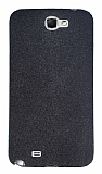 Samsung N7100 Galaxy Note 2 Simli Siyah Silikon K�l�f