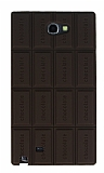 Samsung N7100 Galaxy Note 2 Sütlü Çikolata Silikon Kılıf