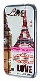 Samsung N7100 Galaxy Note 2 Ta�l� Paris Silikon K�l�f