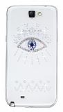 Samsung N7100 Galaxy Note 2 Ta�l� G�z �effaf Silikon K�l�f