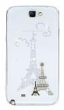 Samsung N7100 Galaxy Note 2 Ta�l� Paris �effaf Silikon K�l�f