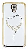 Samsung N7500 Galaxy Note 3 Neo Ta�l� Desenli Gold �effaf Rubber K�l�f