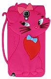 Samsung N7500 Galaxy Note 3 Neo Mari Cat Kedi Pembe Silikon K�l�f