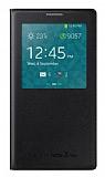Samsung N7500 Galaxy Note 3 Neo Orjinal Pencereli View Cover Siyah Kılıf