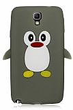 Samsung N7500 Galaxy Note 3 Neo Penguen Gri Silikon K�l�f