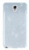 Samsung N7500 Galaxy Note 3 Neo Simli Silver Silikon Kılıf